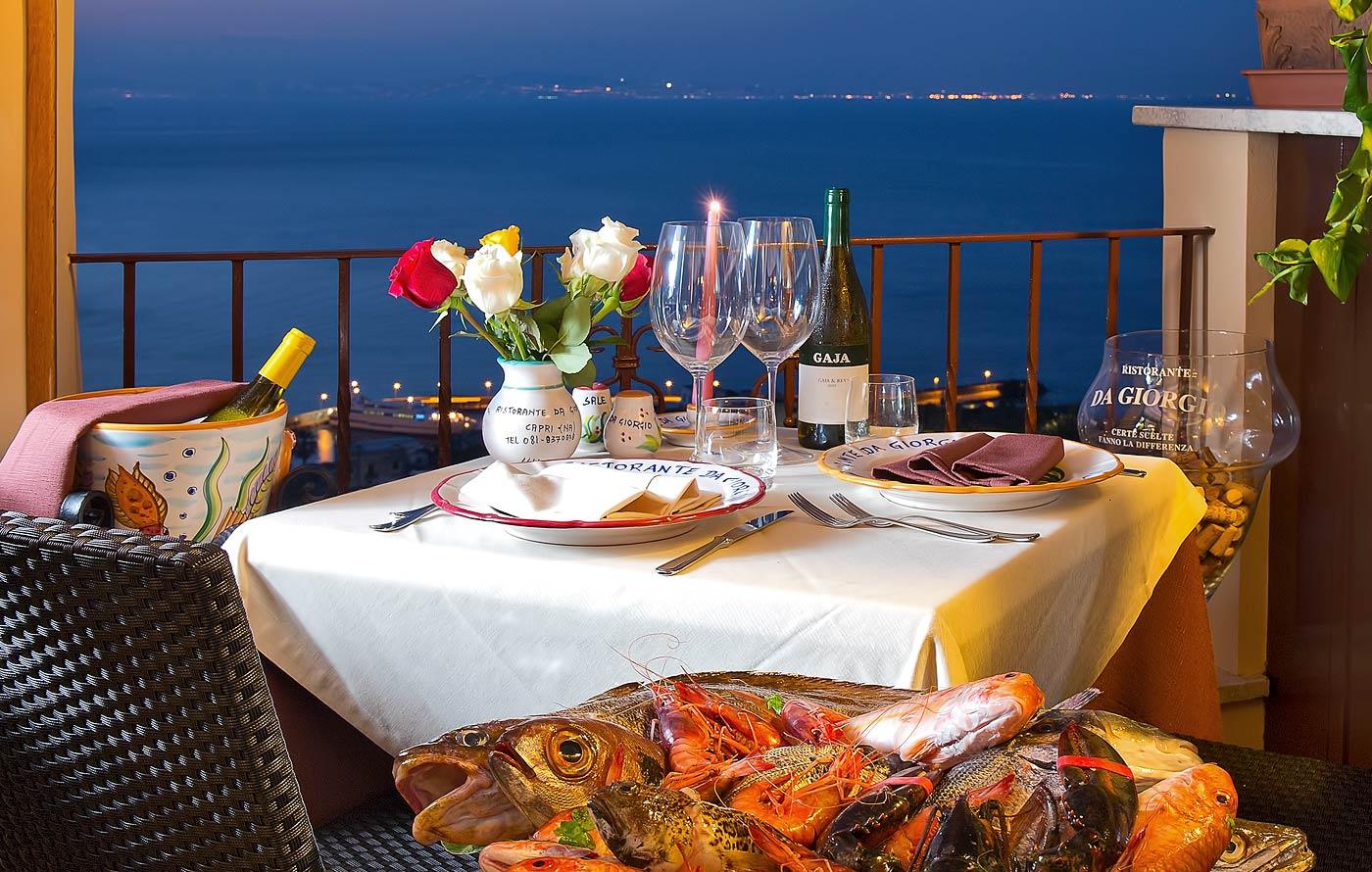 Ristorante da Giorgio - Capri: fish and seafood just steps from the ...